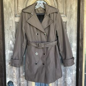 Calvin Klein Double Breasted Trench Coat Size L